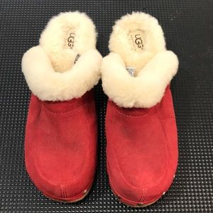 UGG Women's Closed Toe Heeled Clogs Size 7 Red